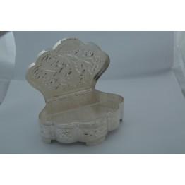 Velpatti Flower White Mukhvas Box