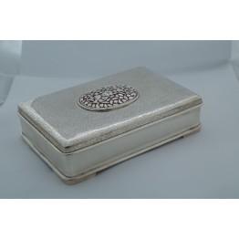 Dull Polish with Flower Stone Mukhvas Box