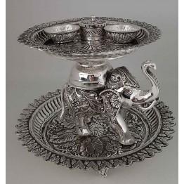 Antique Pooja Set with Elephant - Big